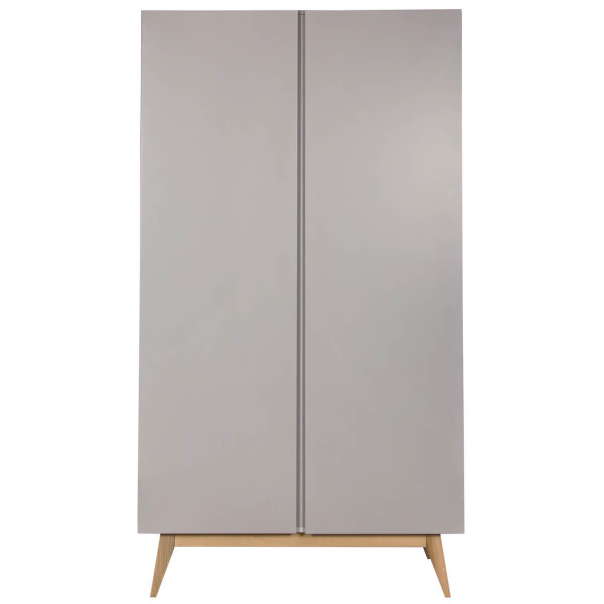 Kleiderschrank 110x198cm TRENDY Quax Griffin grey