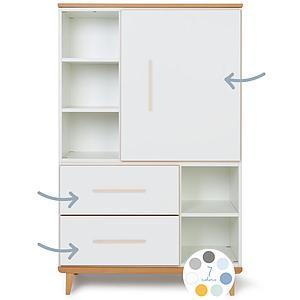 Kleiderschrank 147cm 1-türig 2 Schubladen ohne frontschubladen-tür NADO By A.K.
