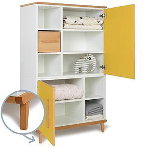 Kleiderschrank 147cm 2-türig NADO sunshine yellow