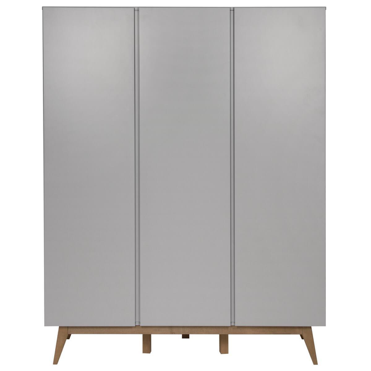 Kleiderschrank 152x198cm TRENDY Quax Griffin grey