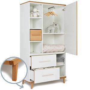 Kleiderschrank 173cm 1-türig 2 Schubladen ohne frontschubladen-tür NADO
