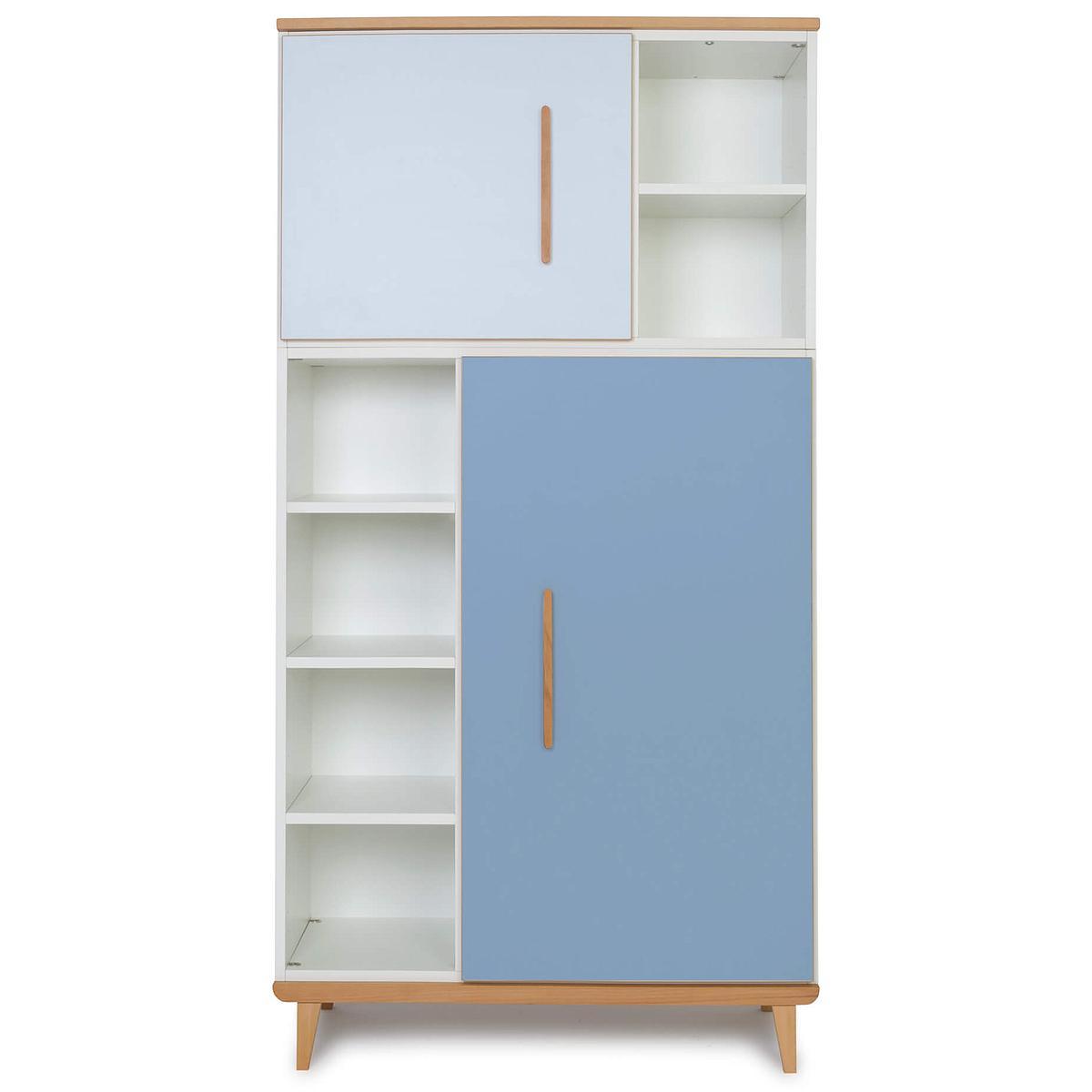 Kleiderschrank 173cm 2-türig NADO sky blue-capri blue