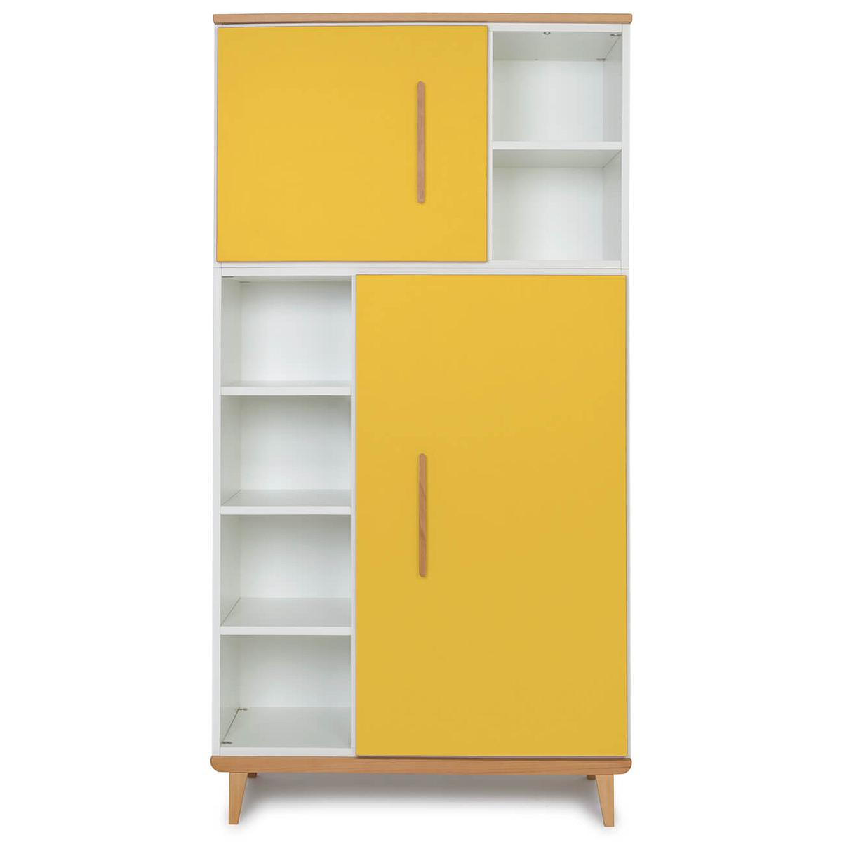 Kleiderschrank 173cm 2-türig NADO sunshine yellow