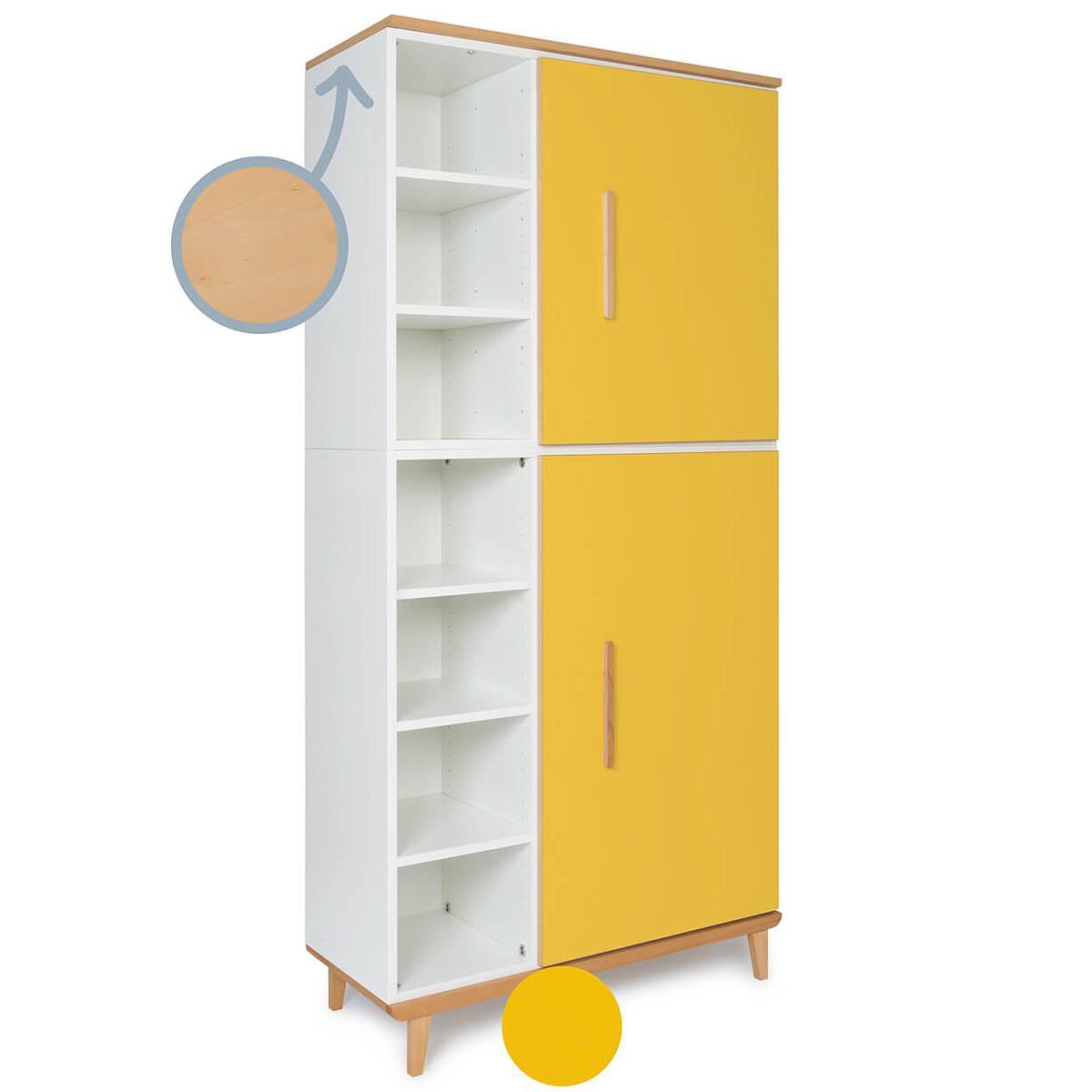 Kleiderschrank 198cm 2-türig NADO sunshine yellow