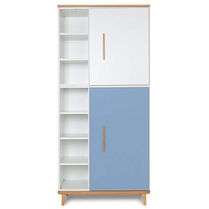 Kleiderschrank 198cm 2-türig NADO white-capri blue