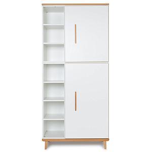 Kleiderschrank 198cm 2-türig NADO white