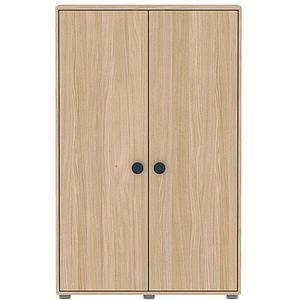 Kleiderschrank 2 Türen 138x88cm POPSICLE Flexa Eiche-blueberry