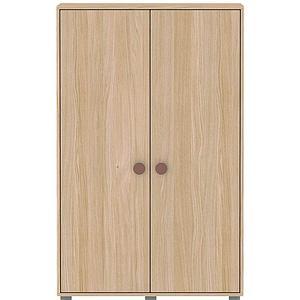Kleiderschrank 2 Türen 138x88cm POPSICLE Flexa Eiche-cherry