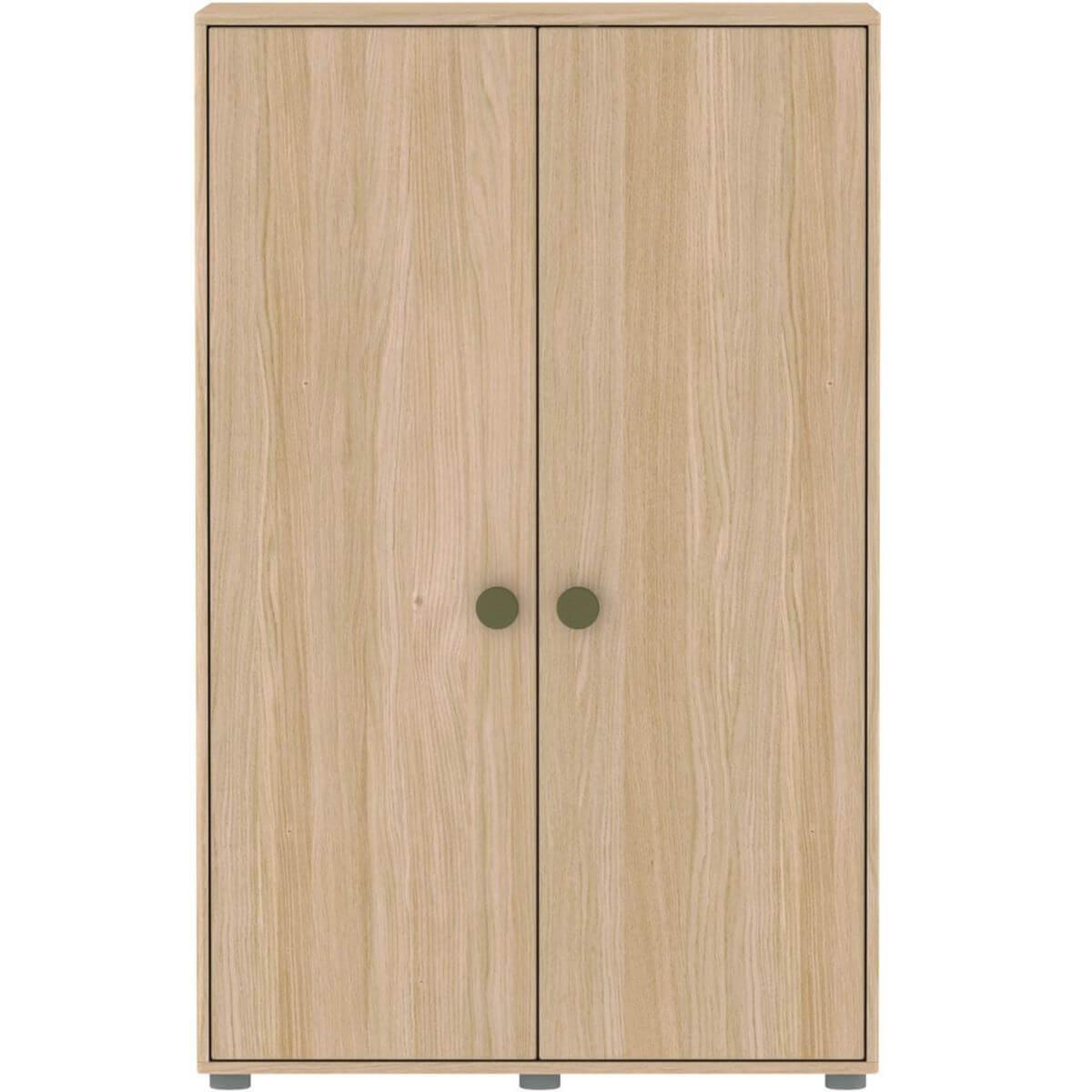 Kleiderschrank 2 Türen 138x88cm POPSICLE Flexa Eiche-kiwi
