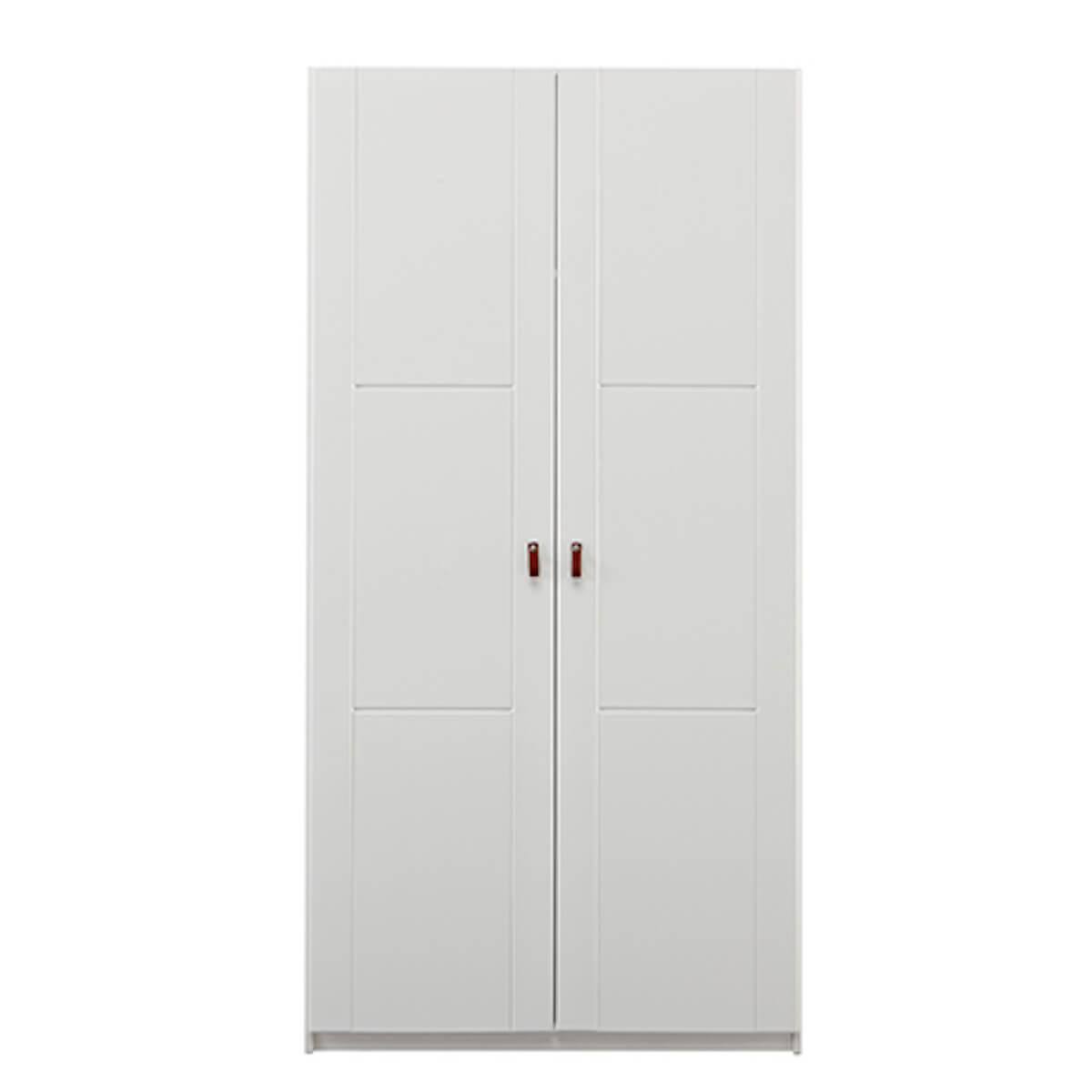 Kleiderschrank 2 Türen-Einlegeböden-Stange 100cm Lifetime weiß