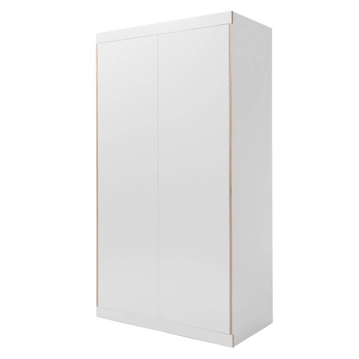 Kleiderschrank 2 Türen FLAI Mueller weiß-Birkenkante