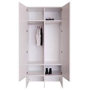 Kleiderschrank 2 Türen KASVA Debreuyn weiß-Eiche