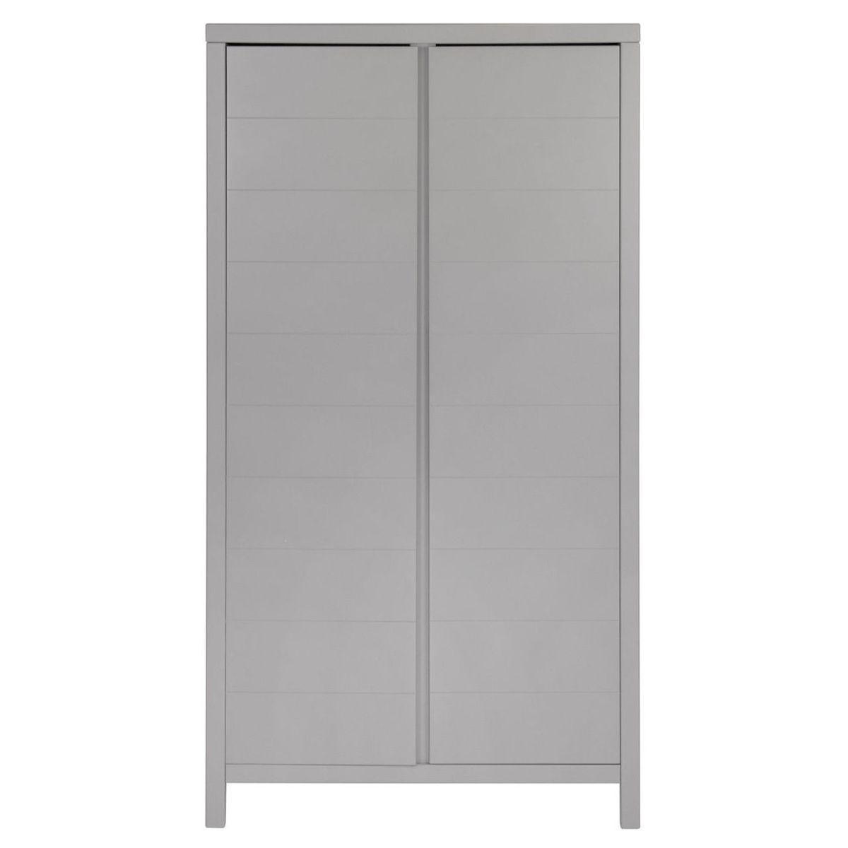 Kleiderschrank 2 Türen STRIPES Quax Griffin grey