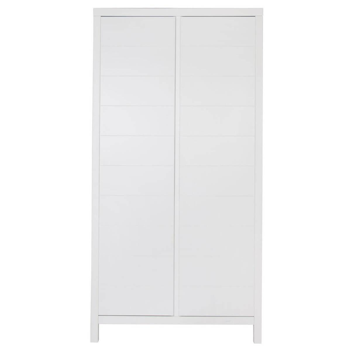 Kleiderschrank 2 Türen STRIPES Quax weiß