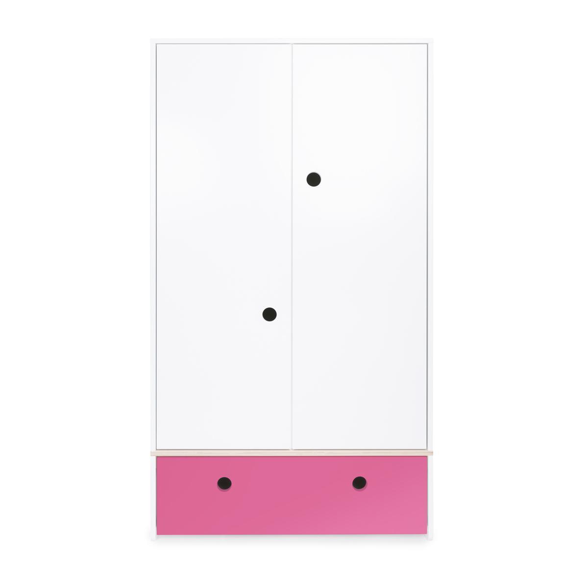 Kleiderschrank 2-türig COLORFLEX Schublade pink