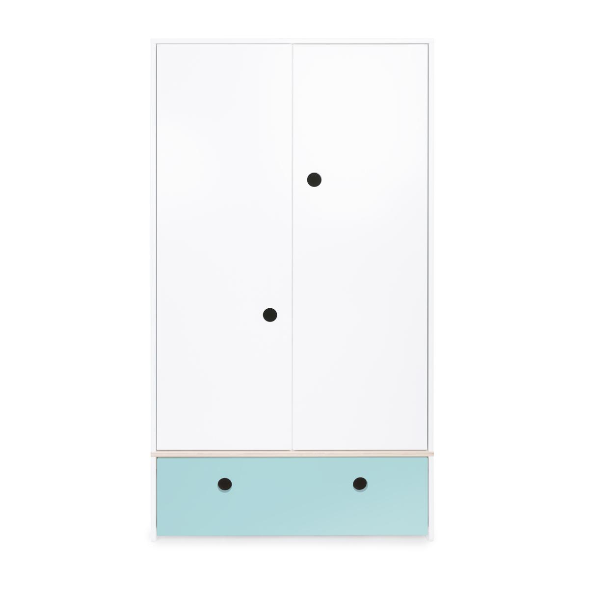Kleiderschrank 2-türig COLORFLEX sky blue