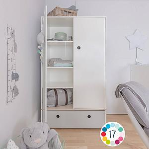 Kleiderschrank 2-türig COLORFLEX space grey