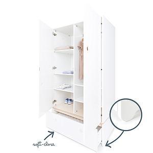 Kleiderschrank 2-türig ohne Frontschubladen COLORFLEX