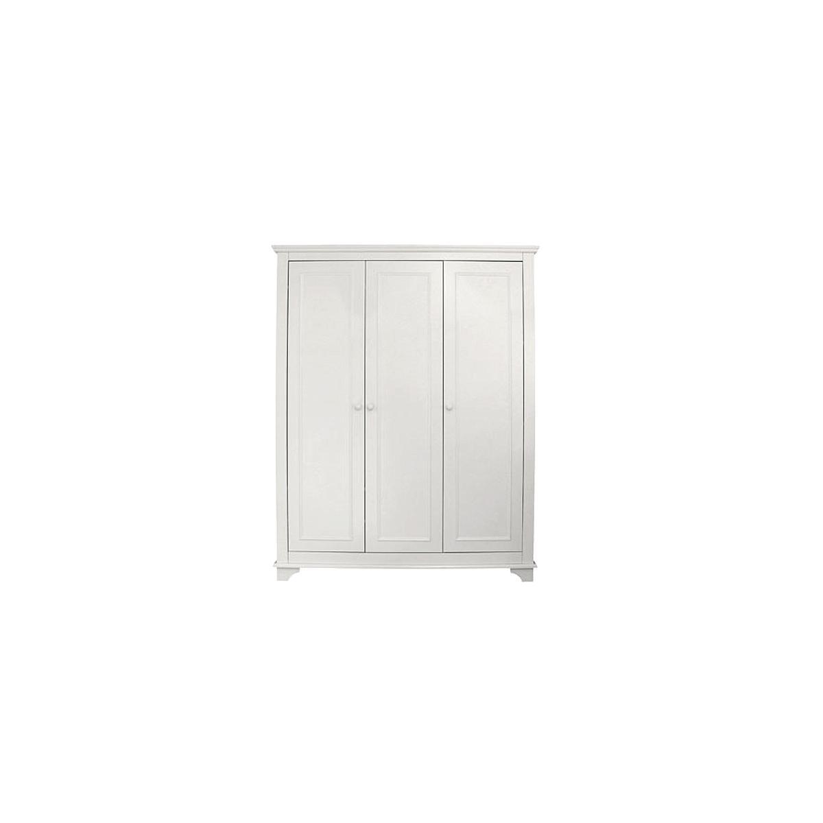 Kleiderschrank 3 Türen CHARLOTTE Bopita weiß
