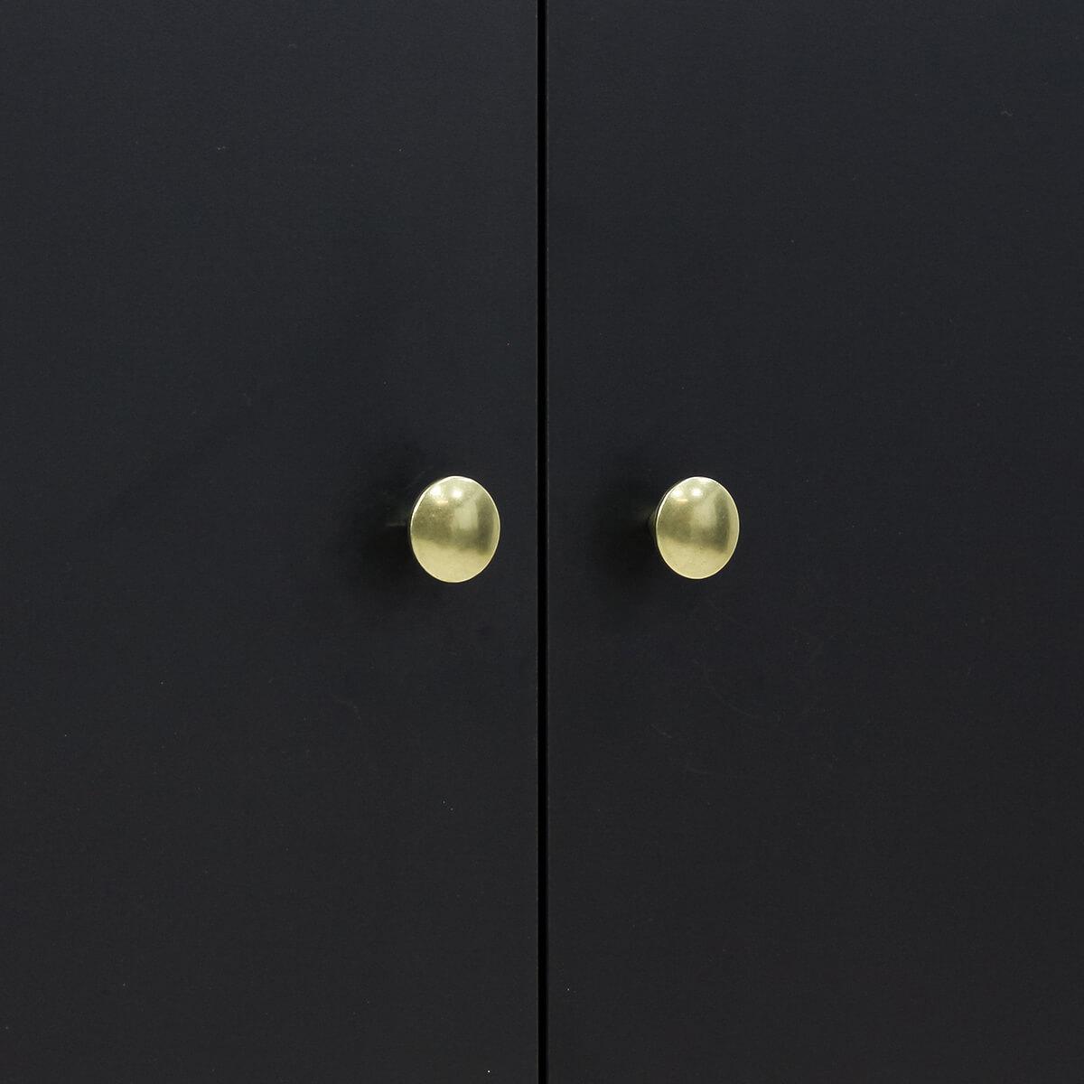 Kleiderschrank 3 Türen CLOË Bopita Bopita Matt Black