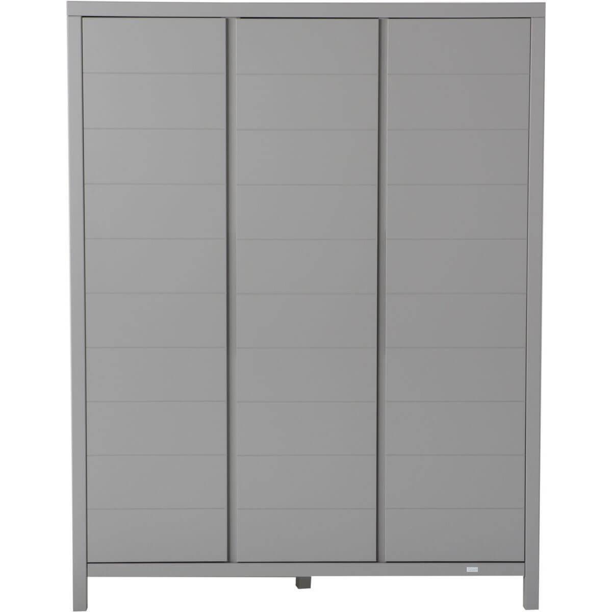 Kleiderschrank 3 Türen STRIPES Quax Griffin grey