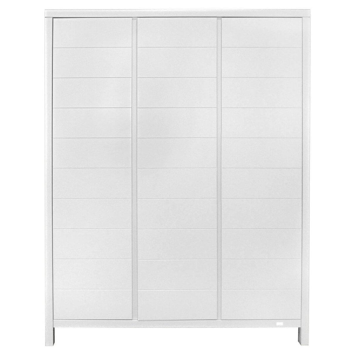 Kleiderschrank 3 Türen STRIPES Quax weiß