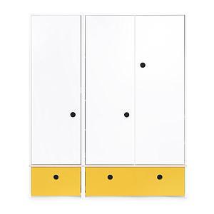 Kleiderschrank 3-türig COLORFLEX Abitare Kids Schubladen nectar yellow