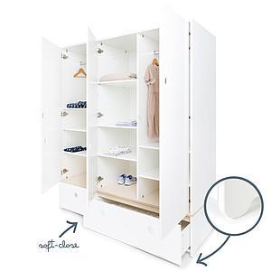 Kleiderschrank 3-türig ohne Frontschubladen COLORFLEX