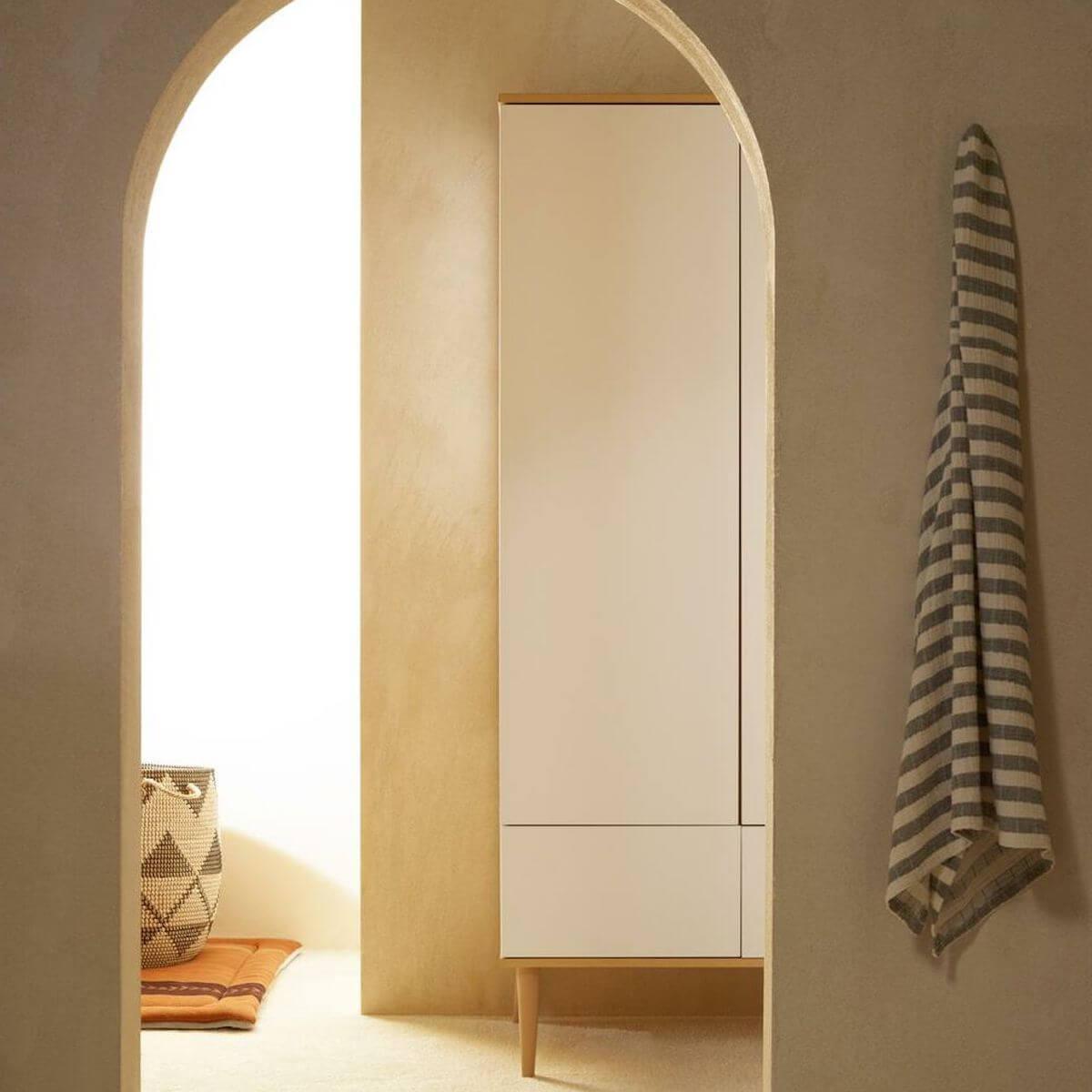 Kleiderschrank FLOW Quax Eiche-natur-weiß