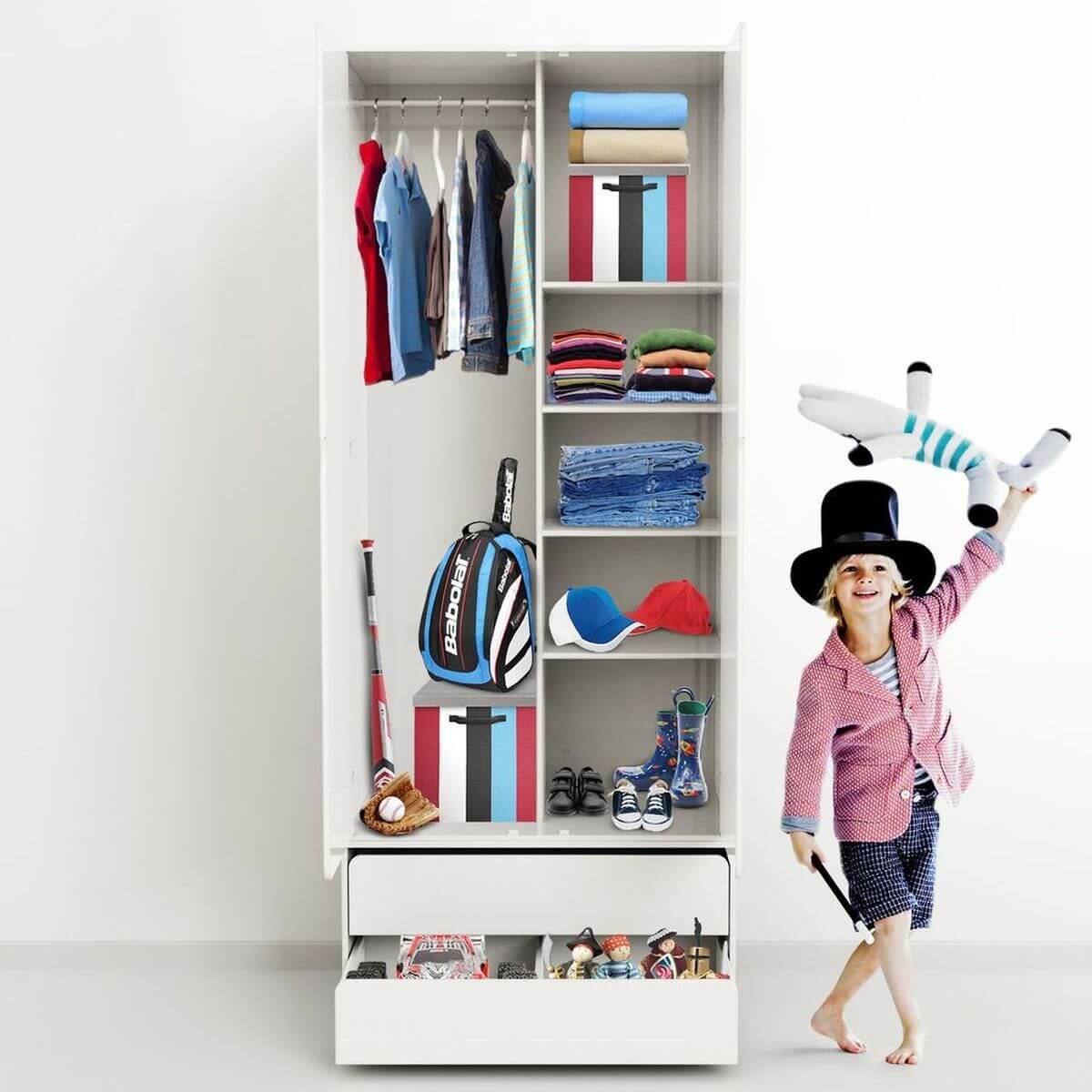 Kleiderschrank hoch 2 Türen CABBY by Flexa weiß