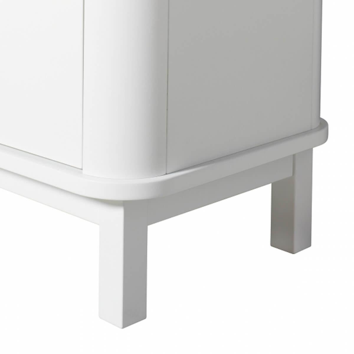 Kleiderschrank Multi-Speicherplatz 3 Türen WOOD Oliver Furniture weiß