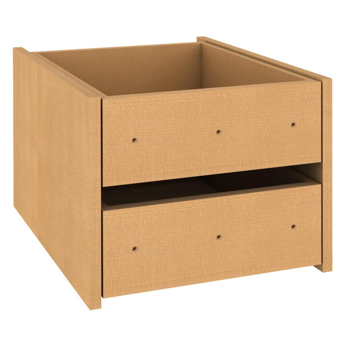 Kleiderschrank-Schubladen 2er-Set  Einbau-Schubkasten DESTYLE de Breuyn Buchenfurnierte Spanplatte natur-geölt
