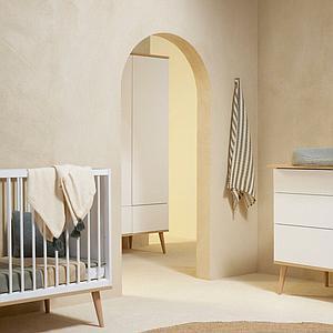 Kleiderschrank XL FLOW Quax Eiche-natur-weiß