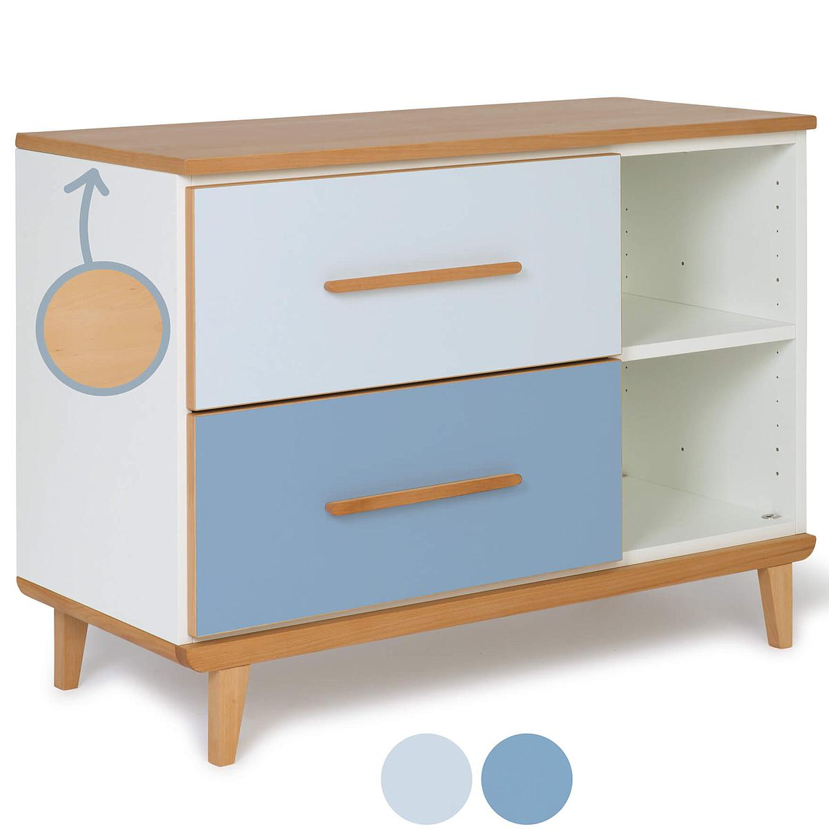Kleinmöbel 2 Schubladen NADO By A.K. sky blue-capri blue