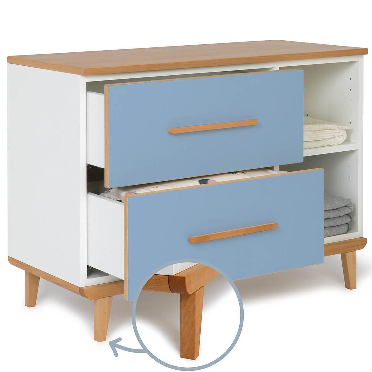 Kleinmöbel 2 Schubladen NADO capri blue