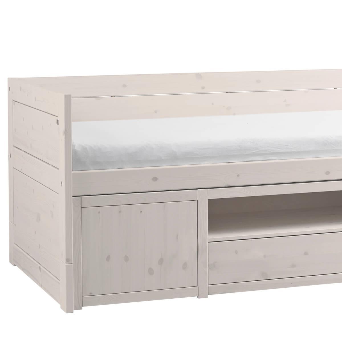 Kojenbett mit Aufbewahrungsschubladen 200x90cm Lifetime whitewash