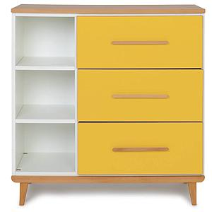 Kommode 3 Schubladen NADO sunshine yellow
