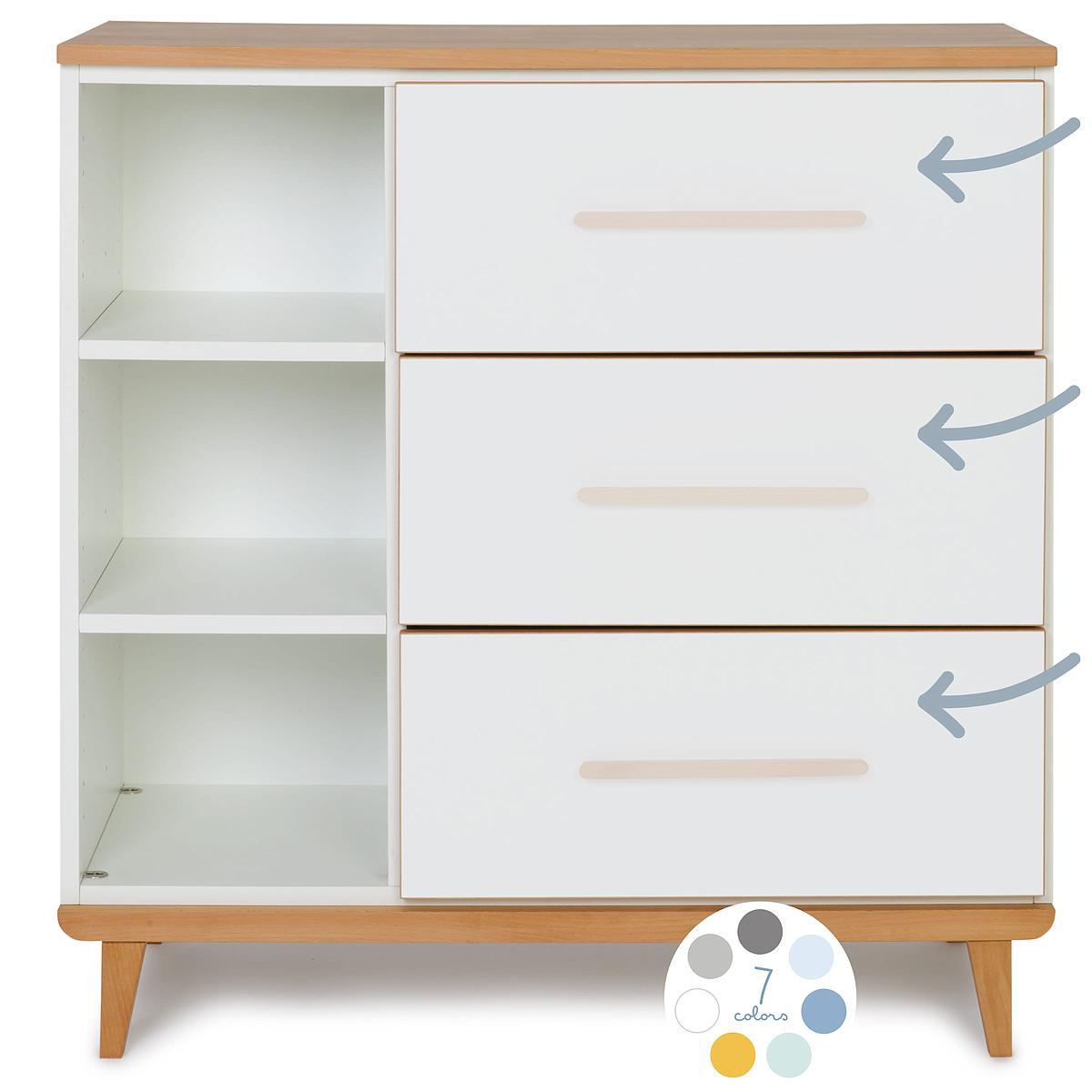 Kommode 3 Schubladen ohne frontschubladen NADO By A.K.