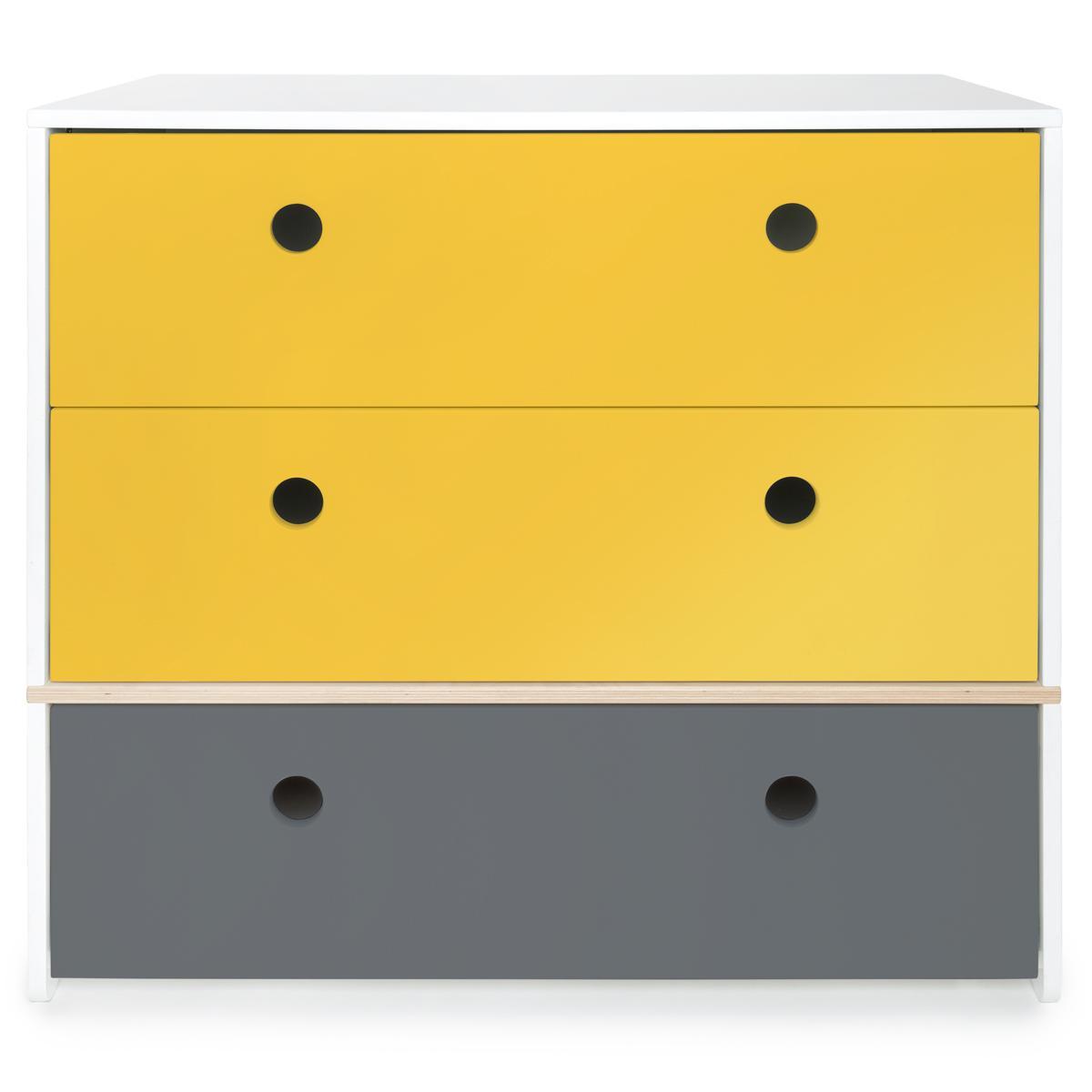 Kommode COLORFLEX Abitare Kids Schubladen Farben nectar yellow-nectar yellow-space grey