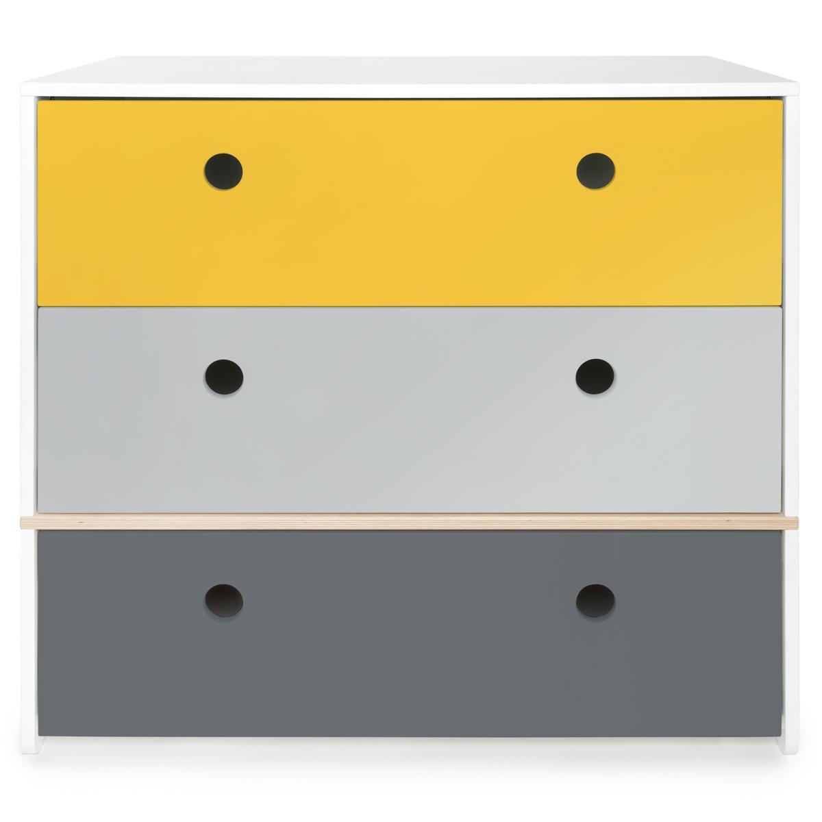 Kommode COLORFLEX Abitare Kids Schubladen Farben nectar yellow-pearl grey-space grey