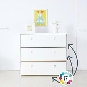 Kommode COLORFLEX Abitare Kids Schubladen Farben white-white-sky blue