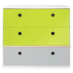 Kommode COLORFLEX Schubladen Farben lime-lime-pearl grey