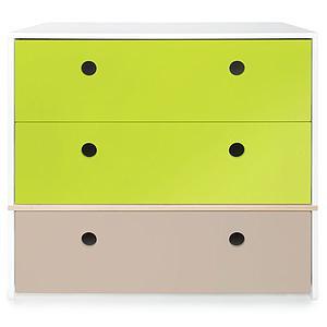 Kommode COLORFLEX Schubladen Farben lime-lime-warm grey