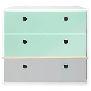 Kommode COLORFLEX Schubladen Farben mint-mint-pearl grey