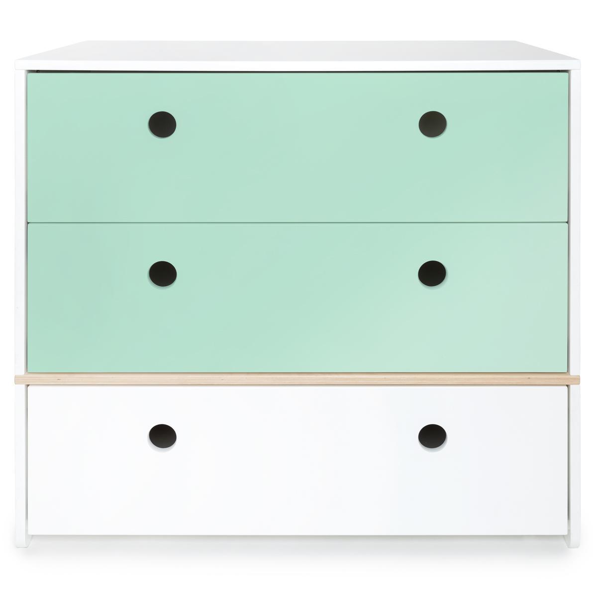 Kommode COLORFLEX Schubladen Farben mint-mint-white