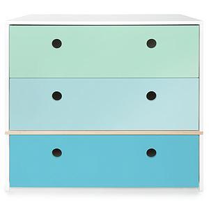 Kommode COLORFLEX Schubladen Farben mint-sky blue-paradise blue