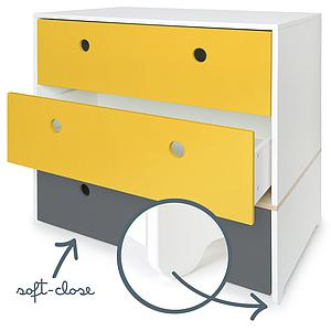 Kommode COLORFLEX Schubladen Farben nectar yellow-nectar yellow-space grey
