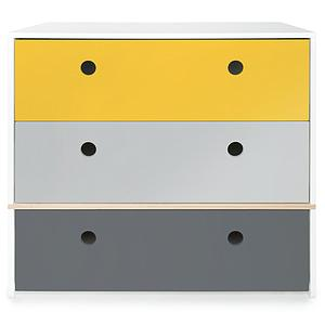 Kommode COLORFLEX Schubladen Farben nectar yellow-pearl grey-space grey