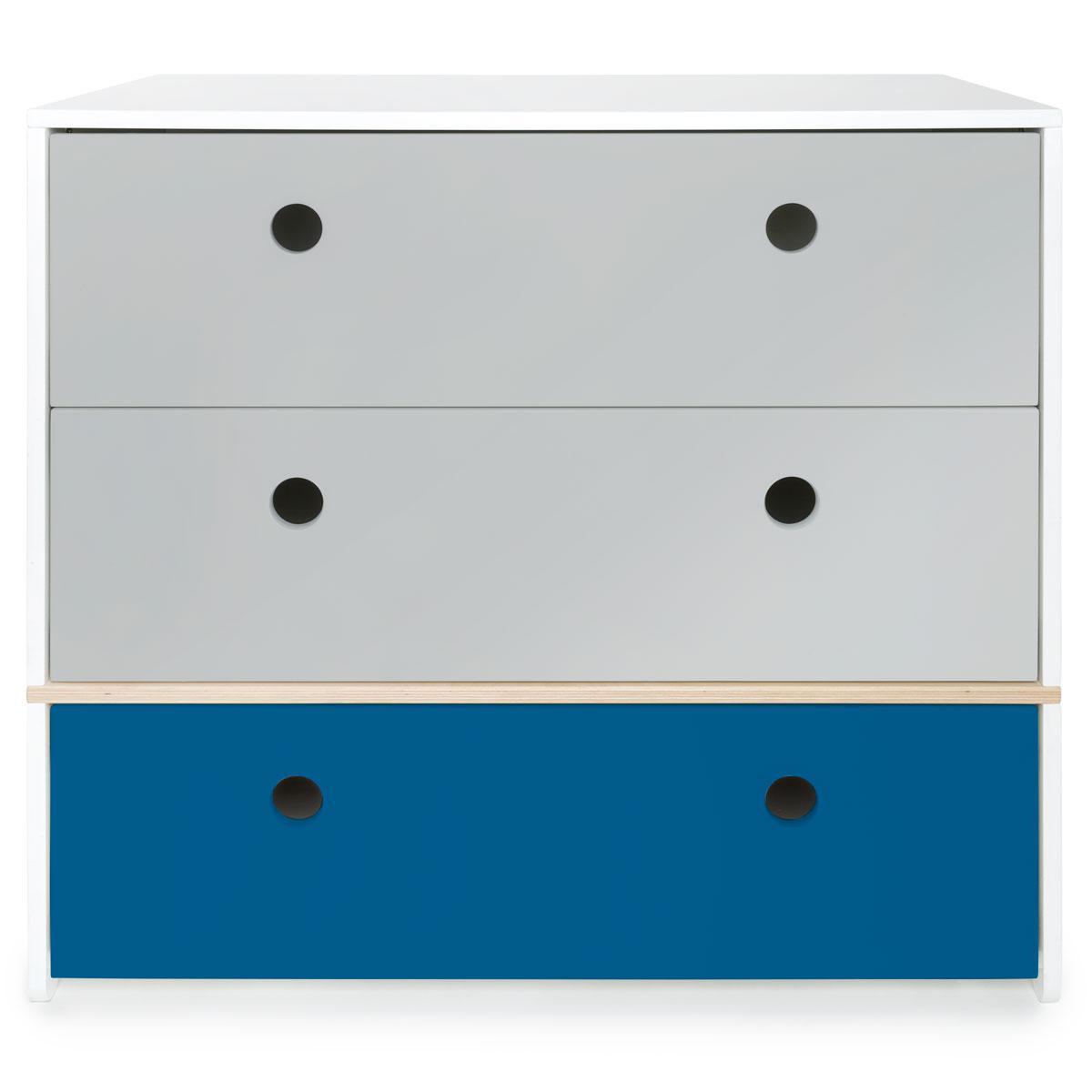 Kommode COLORFLEX Schubladen Farben pearl grey-pearl grey-deep marine