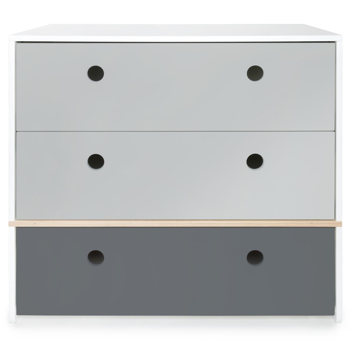 Kommode COLORFLEX Schubladen Farben pearl grey-pearl grey-space grey